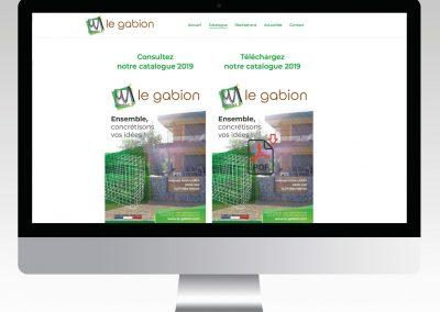 LE GABION catalogue et site internet