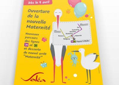 SOLEA affiche maternité